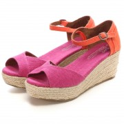 【SALE 50%OFF】トムズ TOMS CHAPTER WOMENS-PLATFORM WEDGES(Pink Mix) レディース