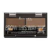 Rimmel brow this way eyebrow sculpting kit polvere sopracciglia 002 mid brown