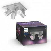 Philips Hue 50624/48/P7 stropní bodové svítidlo Argenta 4x5,7W GU10 2000-6500K RGB - Bluetooth, White and Color Ambiance