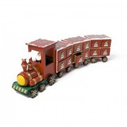 from Then to Now Wooden Red Christmas Advent Calendar Xmas Train Engine 3 Carriages Santa Driver