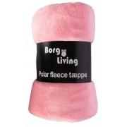 Borg Design Coral fleecefilt - Ljusrosa - 200x150cm