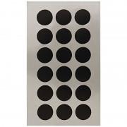 Geen 72x Zwarte ronde sticker etiketten 15 mm