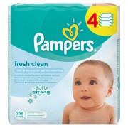 Pampers Baby Fresh Clean dječje vlažne maramice - 256