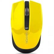 Myš Canyon CNS-CMSW5Y, Wireless optická, USB, 800/1280 dpi, 4 tlač, Power Saving, žltá