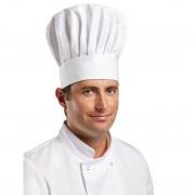Whites Chefs Clothing Whites koksmuts wit S - S