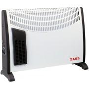 Convector electric Zass ZKH 02 T, 2000 W, 3 trepte de putere, Termostat reglabil, Turbo