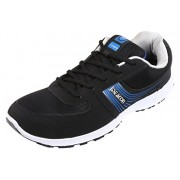 Action Campus Series Men's Black Royal Blue Synthetic and Nylon Mesh Sports Shoes 7UK