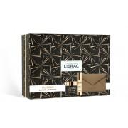 Lierac Cofanetto Natale Premium La Cure 30ml + Crema Voluptueuse 50ml + Pochette In Pelle Rue Des Fleurs