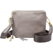 Fossil Women Grey Genuine Leather Sling Bag