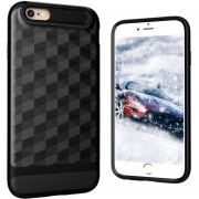 Louiwill Estuche KOBWA Para IPhone 6 Plus, Estuche Para IPhone 6S Plus, 2 En 1 Estuche Para IPhone 4 TPU + Soft Shell, Estuche Antideslizante Antideslizante Para Cuerpo Entero Para Apple IPhone 6 Plus / 6S Plus - Negro
