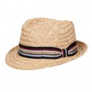HUTTER cappello trilby Fernando in paglia naturale con nastro a righe firmato HUTTER