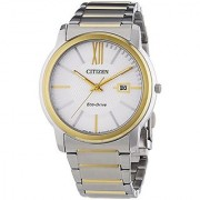 Citizen Eco-Drive Analog White Dial Mens Watch - AW1214-57A