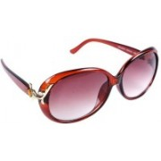 New Zovial Oval Sunglasses(Brown)