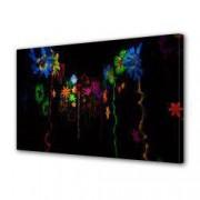 Tablou Canvas Premium Abstract Multicolor Flori Luminate Decoratiuni Moderne pentru Casa 80 x 160 cm