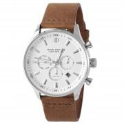 Dane Dapper Weiße & Silberfarbene Troika Armbanduhr