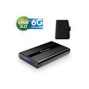 FANTEC DB-228U3-6G, externes 2,5-SATA-Gehäuse, USB 3.0, schwarz