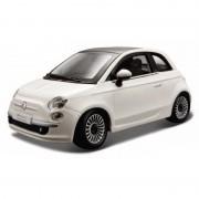 Bburago Modelauto Fiat 500 2007 wit 1:24