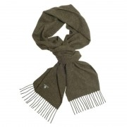 Barbour Plain Lambswool Scarf Grön