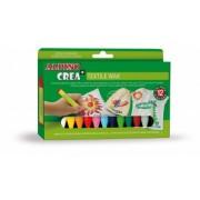 Set creatie copii creioane cerate ALPINO Crea + Textil