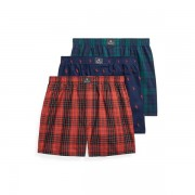 Polo Ralph Lauren Cotton Boxer 3-Pack - 3pk Navy Aopp/Cwl Pld/Blc - Size: Small