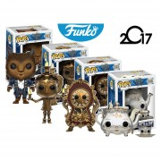 Set Exclusivo 4 La Bella Y La Bestia Funko Pop Lumiere Cogsworth Mrs Potts Pelicula Envio Gratis