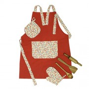 Shumee Lil Chef's Apron Set - Festive Red ( 3 years+) - Pretend Play - Kitchen Sets