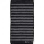 JOOP! Toallas Classic Stripes Toalla de ducha negra 80 x 150 cm 1 Stk.