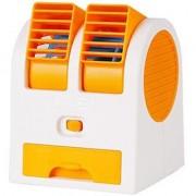 shopeleven Mini USB Cooling Fan Cooler Portable Desktop Dual Bladeless AC fan USB Cooler Fan(color may vary)