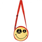 Smiley world Peace Eyes Expression Sling Bag Yellow 8 Inch by Ultra