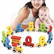 Wooden Train Set Puzzle Block Train 0 to 9 Numeric Figure Train Detachable Number Blocks
