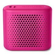 Безжична портативна тонколона Philips Bluetooth, Акумулаторна батерия, 2 W - розов, BT55P