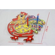 2 in 1 Wood Magnetic Maze Game Magnetic Pen Labyrinth Board Chess Intelligence Games