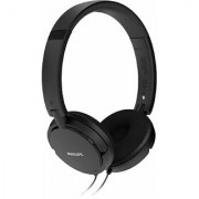 (Renewed) Philips SHL5000/00 On Ear Headphone with Deep Bass (Black)