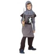 Vegaoo Grå riddare - utklädnad barn 120 - 130 cm M (7 - 9 år)