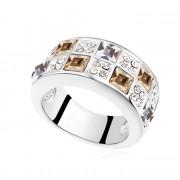 Inel argint cu Swarovski Elements Gold Elegance
