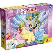 Puzzle Lisciani, Supermaxi cu 2 fete, Princess, 108 piese