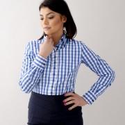 Női kék fehér ing Willsoor kockás 10626