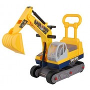 Angry Birds Red Ride-on 6-Wheel Excavator On wheels with Back - Yellow