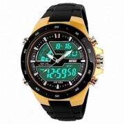 Skmei Black PU Digital Watch for Men 6 MONTH WARRANTY