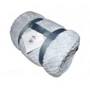 Plaid Polaire CARESSE - 130 X 160 - Perle