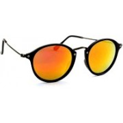 TheWhoop Round Sunglasses(Orange)