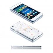 Wigento Silikoncase motiv 21 0,3 mm ultra tunn fallet för Huawei P8 Lite ficka cover