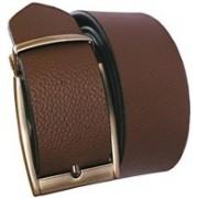 The Tote Shope Men Casual Black, Brown Genuine Leather Reversible Belt