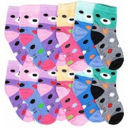 CHRISTY Little Kingdom Full Warm Winter Care 12 Pairs Pure Cotton Socks - Beautiful Multicolor Best Quality