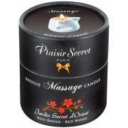 Plaisir Secret Massage Candle Red Wood 80 ml