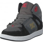 DC Shoes Pure High-top Grey/black/red, Skor, Sneakers & Sportskor, Höga sneakers, Grå, Barn, 34