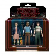 Action Figure Funko Stranger Things 3 Pack Eleven, Lucas and Mike Action Figures