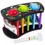 Deluxe Wooden Space Adventure Pound & Tap Musical Bench - Great for Toddlers!