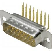 Conector D-SUB tată, 9 pini, în unghi 90°, cu terminale lipire, 10120258 BKL Electronic