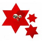 Bellatio Decorations Rode ster onderzetter 15 cm